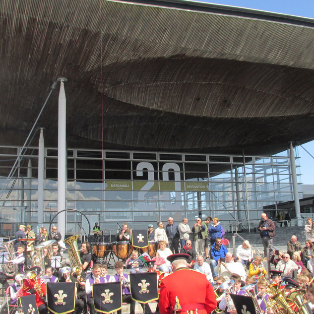 The Youth Musical Performance outside the Senedd