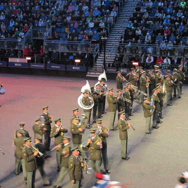 The Central Band of the Czech Armed Forces performing the Beer Barrel Polka