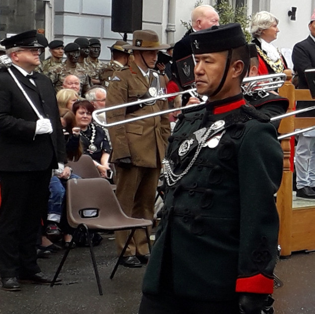 The Bugle Major of The Band of the Brigade of Gurkhas