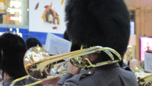 A Trombonist from The Band of the Grenadier Guards