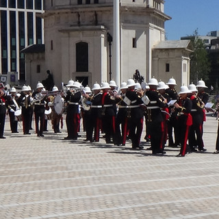 The Band of HM Royal Marines Portsmouth during Avengers Assemble