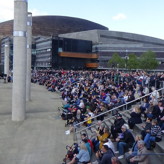 The massive crowds that came to suppot this now annual event in Cardiff Bay