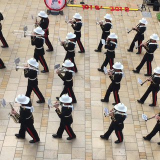 The Band of HM Royal Marines Plymouth in Cabot Circus