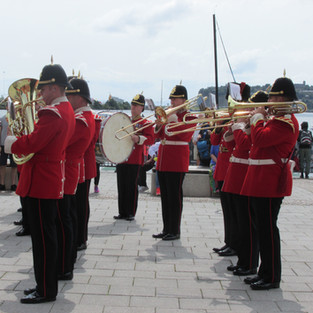The Band of the King's Division Lower Brass section