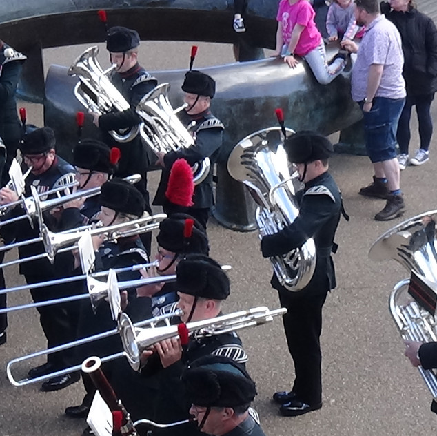 The Band and Bugles of the Rifles Lower Brass Section