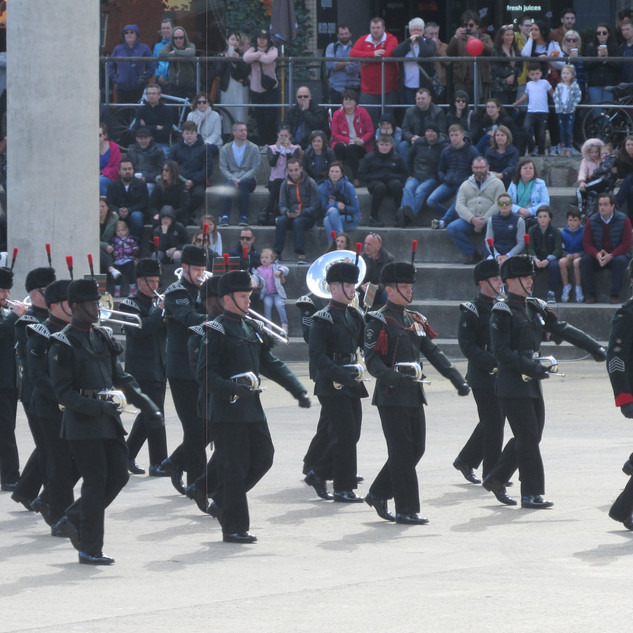 The Band and Bugles of the Rifles completing the accelerando