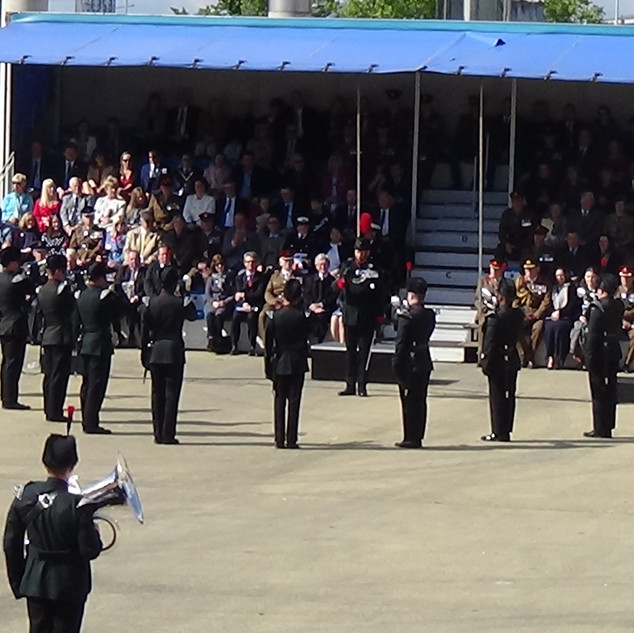 The Bugle Platoon of the Rifles performing the Bugle solo 'Old Crow Joe'