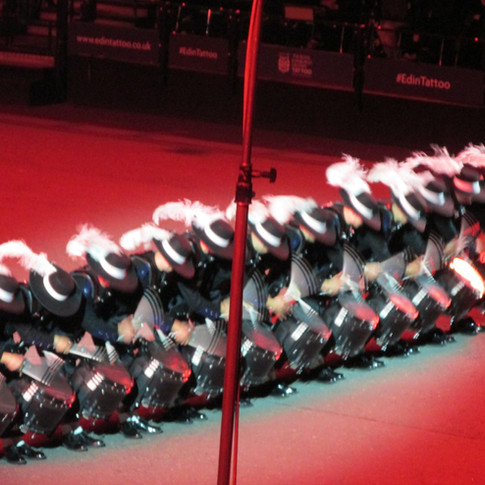 The Top Secret Drum Corps performing high speed drumming