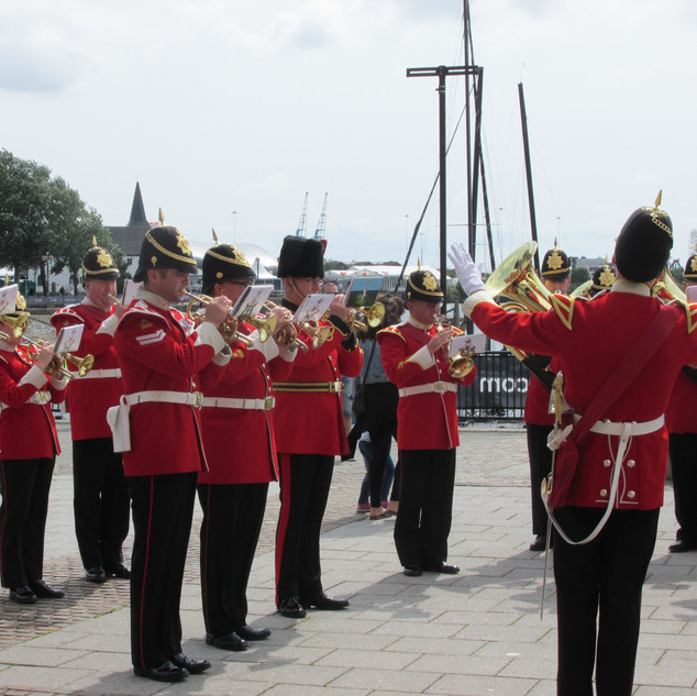 The Band of the King's Division Cornet section