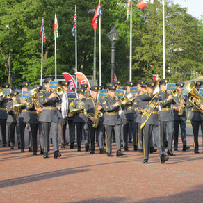 Dambusters 75th Anniversary Sunset Ceremony - Cardiff