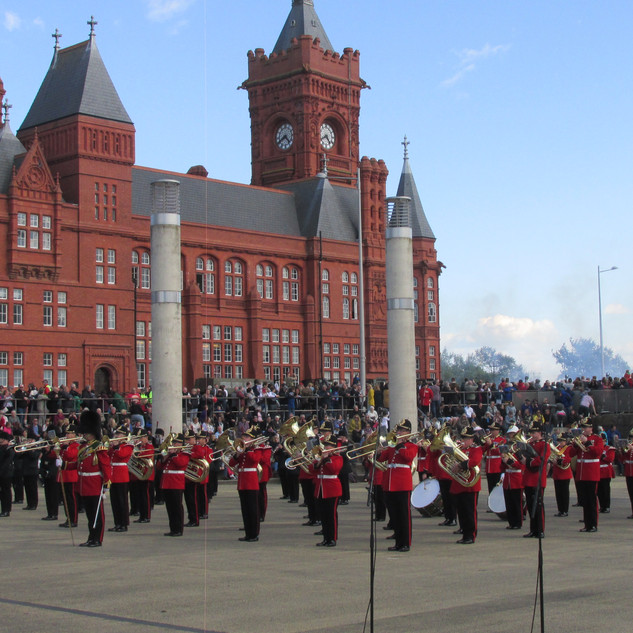 The Massed Bands performing the 1812 Overture with live artillery cannon fire from 104 Regiment Royal Artillery.