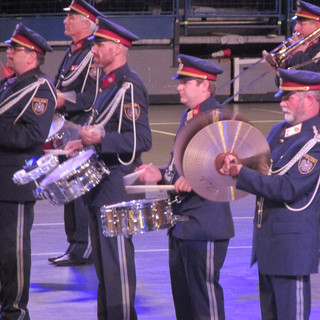 The Percussion Section from the Tirol Police Band from Austria
