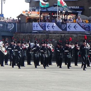 The Band and Bugles of the Rifles