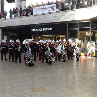 The Band of HM Royal Marines Plymouth performing Hollyrood
