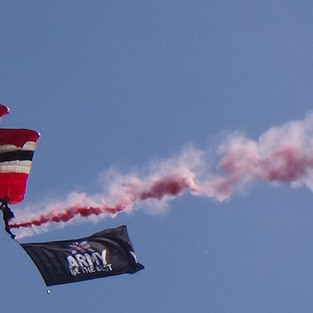 Two members of The Red Devils Parchute Display Team