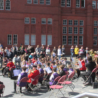 The Youth Band with the Band of the Prince of Wales's Division performing