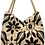 Thumbnail: Large Fabric Flower and Leaf Tote - Cream/Black