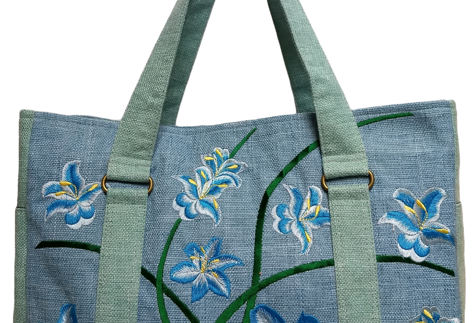 Embroidered Fabric Handbag
