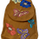 Thumbnail: Suedette Butterflies and Flowers Dark Ginger