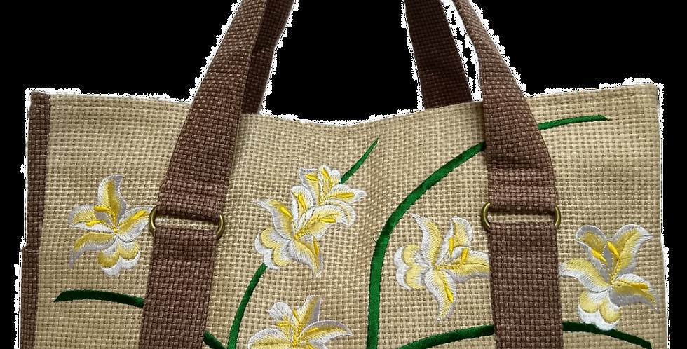 Embroidered Fabric Handbag