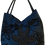 Thumbnail: Large Fabric Flower Tote - Blue/Black