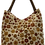 Thumbnail: Large Canvas Tote - Cream with Red and Gold Round Flowers