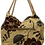 Thumbnail: Medium Fabric Flower and Leaf Tote - Coffee/Brown/Bronze
