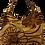 Thumbnail: Large Chrysanthemum Tote - Cappuccino/Brown/Bronze