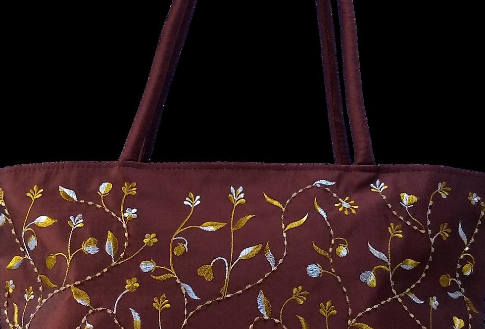 Beaded Flower Sprigs - Chocolate