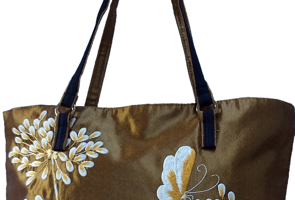 Agapanthus and Butterfly - Dk Gold
