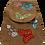 Thumbnail: Woven Fabric Butterflies and Flowers Mocha