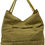 Thumbnail: Large Fabric Flower and Leaf Tote - Olive/Bronze/Black