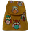 Thumbnail: Suedette Embroidered Owl Gold