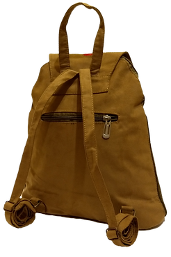 Suedette fabric backpack back view_edite