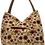 Thumbnail: Large Canvas Tote - Cream with Red and Gold star flowers
