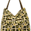 Thumbnail: Large canvas tote -Cream with Spring Green star flowers design