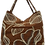 Thumbnail: Large Leaf & Hibiscus Tote - Choc/Gold/Bronze/Silver