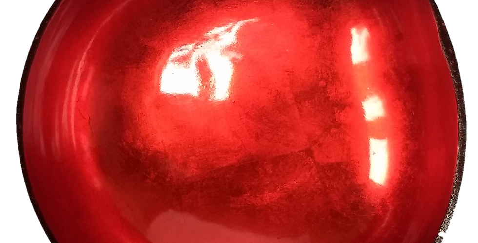 Red Lacquered Coconut Bowl