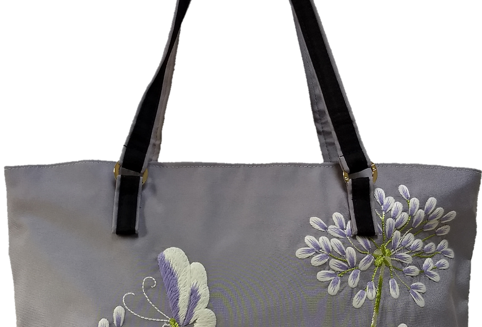Agapanthus and Butterfly - Grey