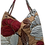 Thumbnail: Suedette Beaded Hibiscus Tote - Coffee/White/Red/Brown