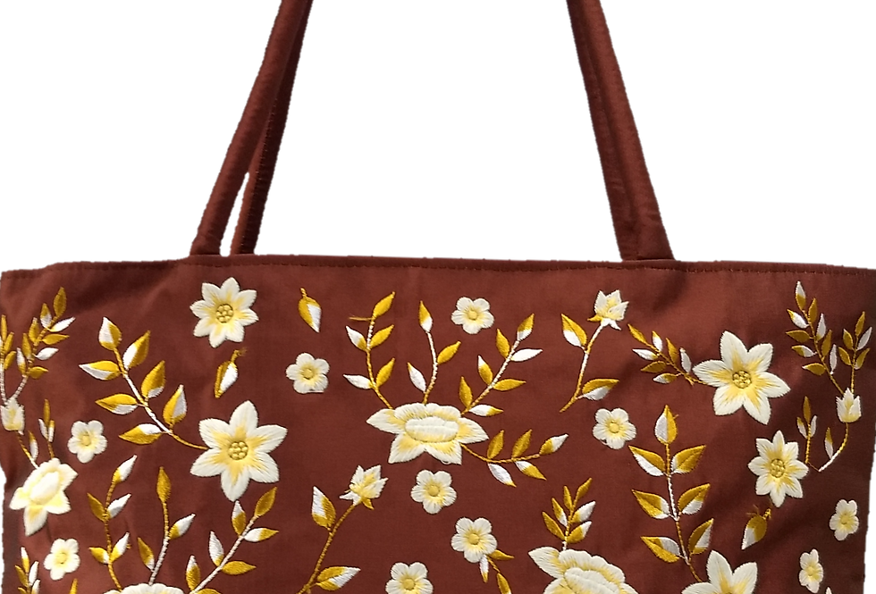 Dainty Flower and Leaf - Chocolate