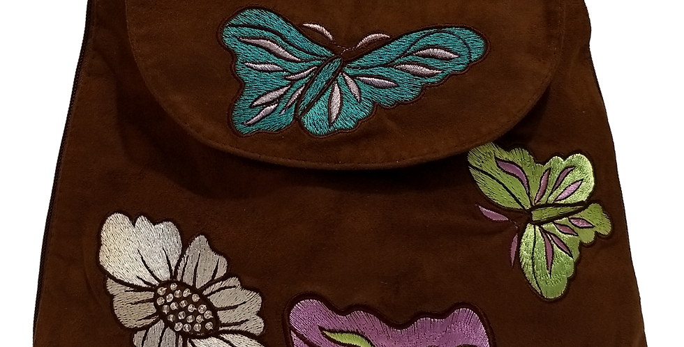 Suedette  Butterflies and Flowers Dark Chocolate
