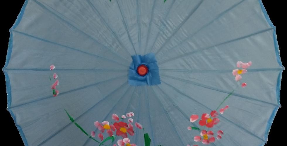 Hand-Painted Parasol - Lt Blue