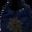 Thumbnail: Large Chrysanthemum Tote - Blue/Black