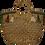 Thumbnail: Hyacinth Round Handles - Green and Gold