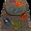 Thumbnail: Woven Fabric Butterflies and Flowers Dark Grey