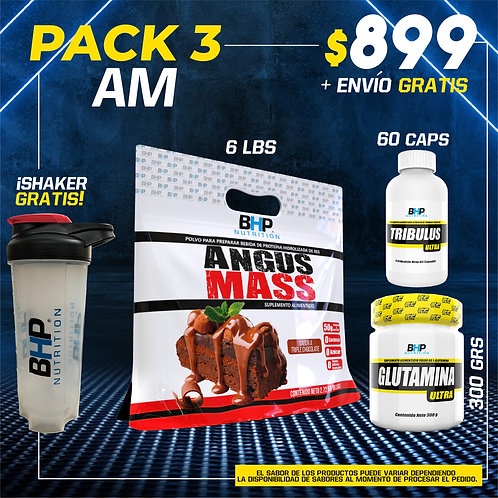PACK 3 AUMENTO MUSCULAR