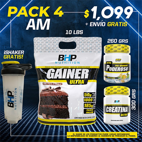 PACK 4 AUMENTO MUSCULAR