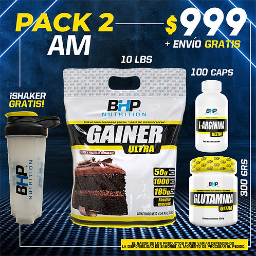 PACK 2 AUMENTO MUSCULAR