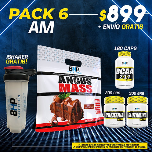 PACK 6 AUMENTO MUSCULAR